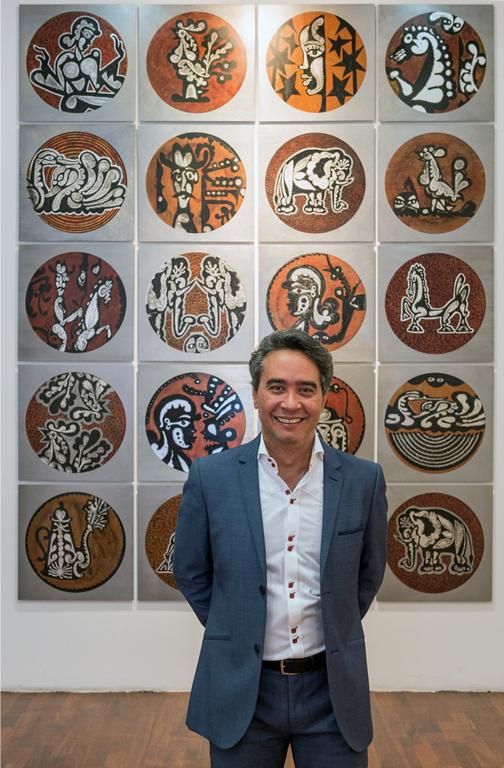 Carlos Luna at Green Machine: The Art of Carlos Luna; Museo de los Pintores Oaxaqueños, Oaxaca, Mexico