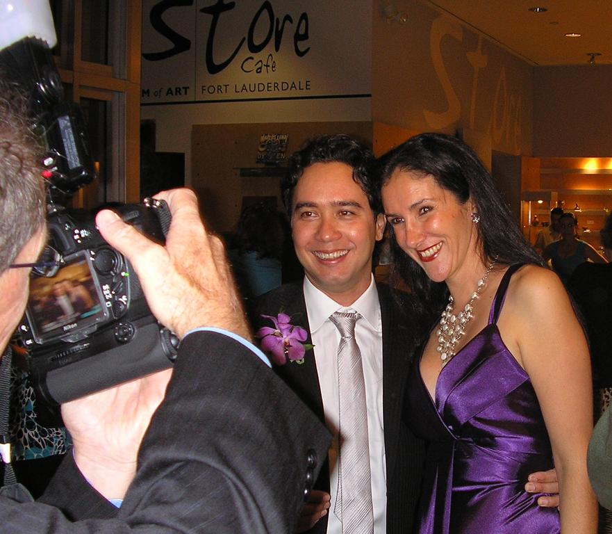 Carlos y Claudia Luna, noche de inauguración, Museum of Art | Fort Lauderdale, 2008
