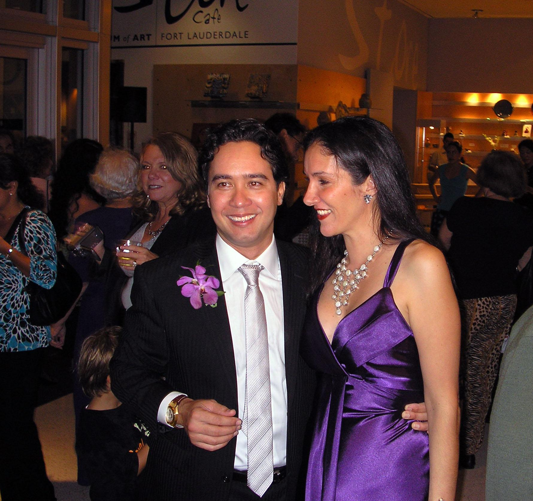 Carlos and Claudia Luna, opening night at the Museum of Art | Fort Lauderdale, 2008