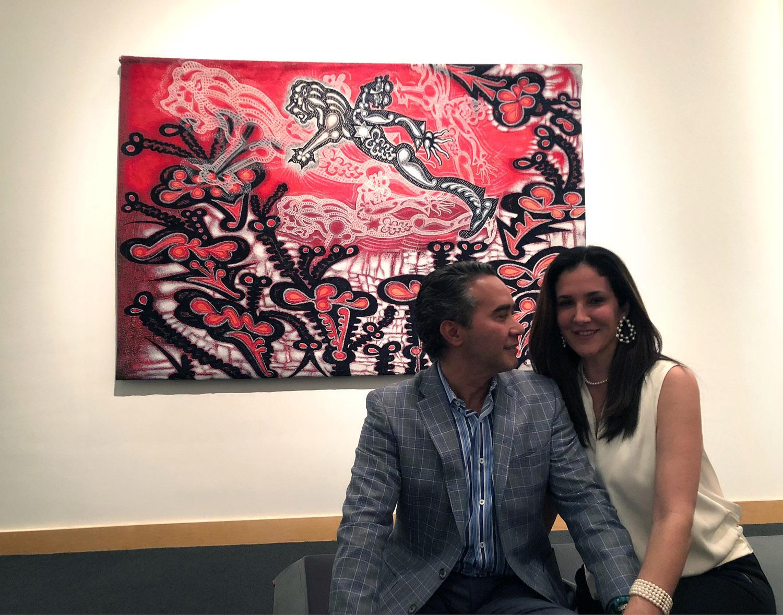 "Carlos and Claudia Luna with ""Sometimes"" at Nomadic Murals, Boca Raton Museum of Art, Boca Raton, FL, 2018"