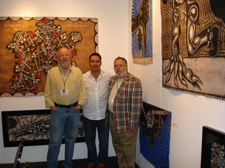 Robert Lennon, Carlos Luna and Ramon Osuna at a solo show, Art Santa Fe, 2007