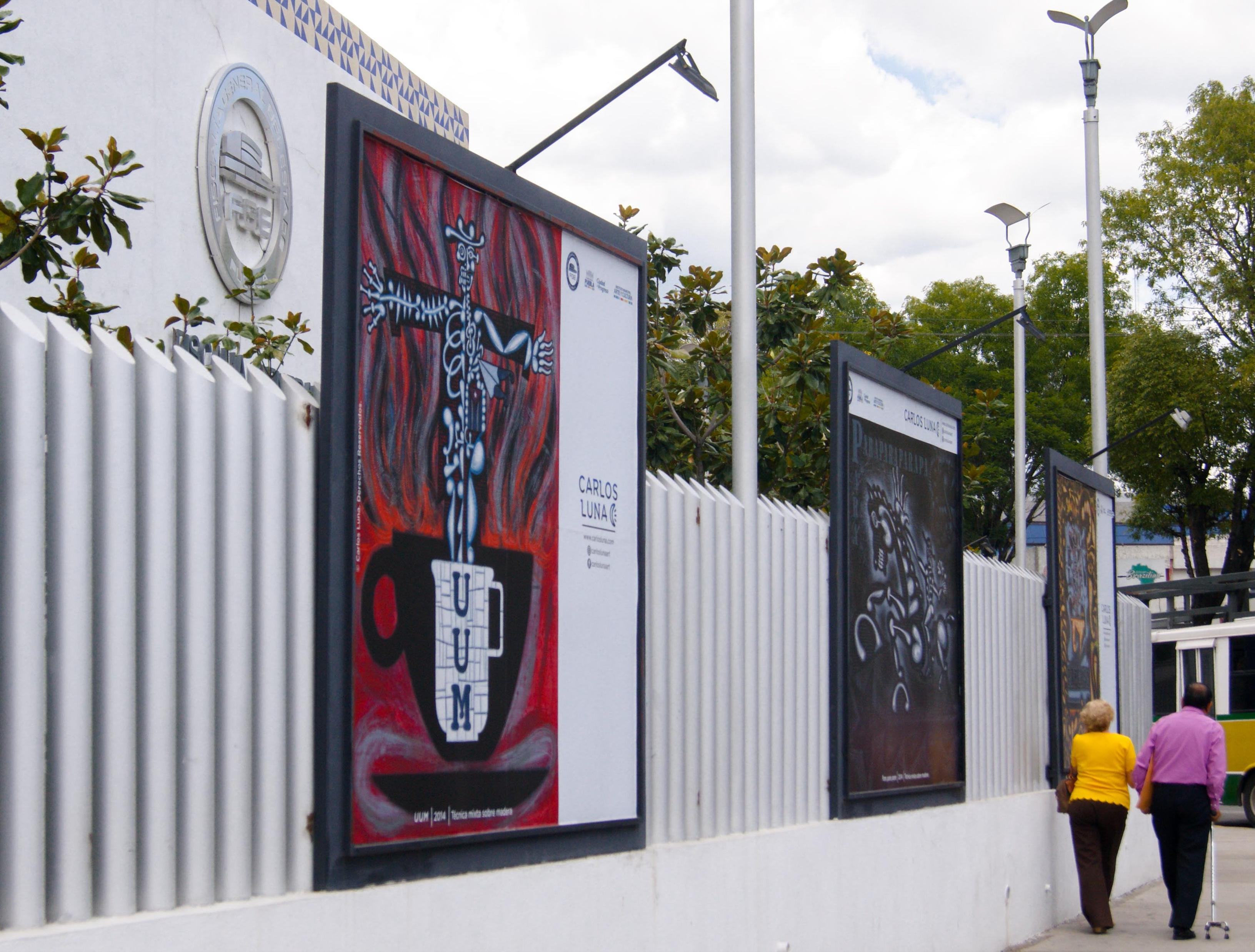 Public Art Project; Zócalo, Fiscalía, Panteón, Puebla, Mexico, 2018