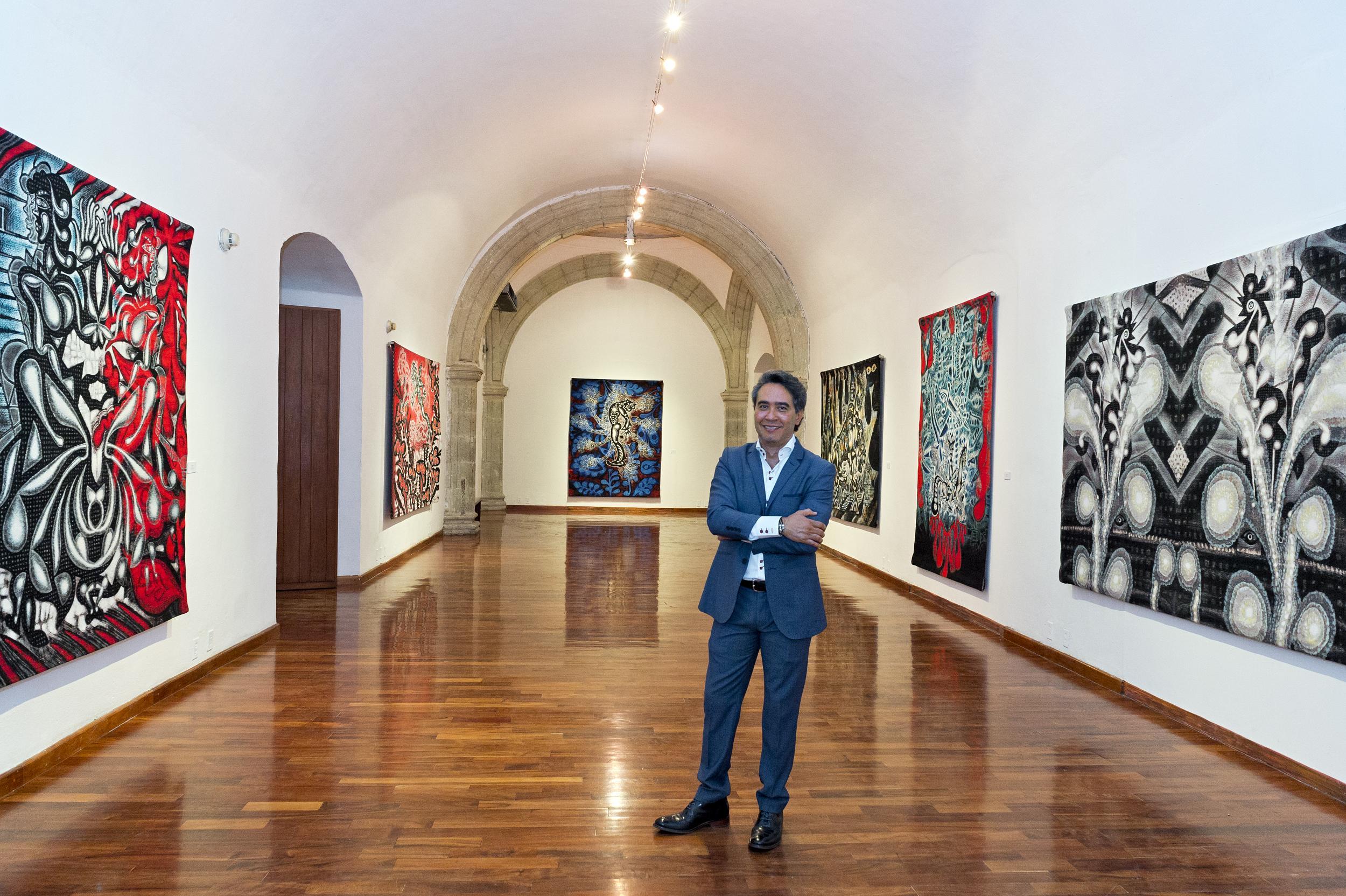 Carlos Luna at Green Machine: The Art of Carlos Luna; Museo de los Pintores Oaxaqueños, Oaxaca, Mexico, 2016