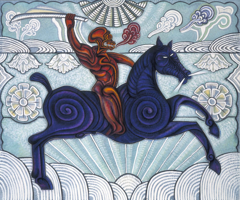 San Cipriano y su caballo flor de viento
